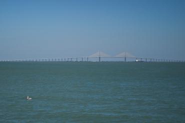 Sunshine Skyway Bridge from Fort De Soto